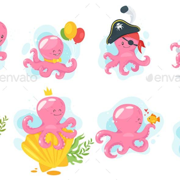 Octopus Cartoons