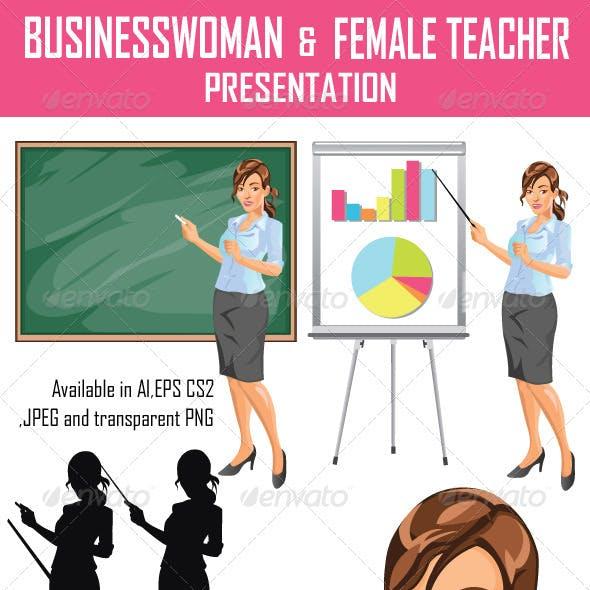 Businesswoman and Teacher Presentation