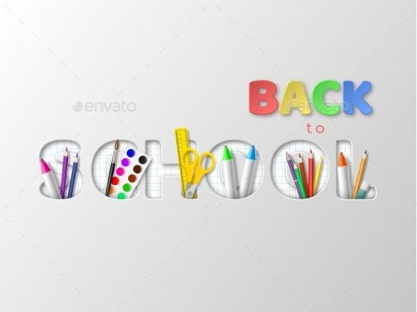 Back To School Typography Design - Miscellaneous Vectors
