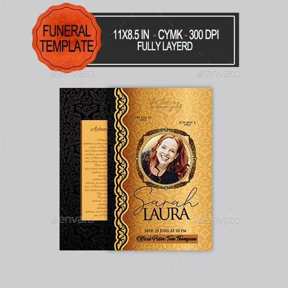 Funeral Porgram Template