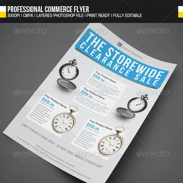 Professional Commerce Flyer