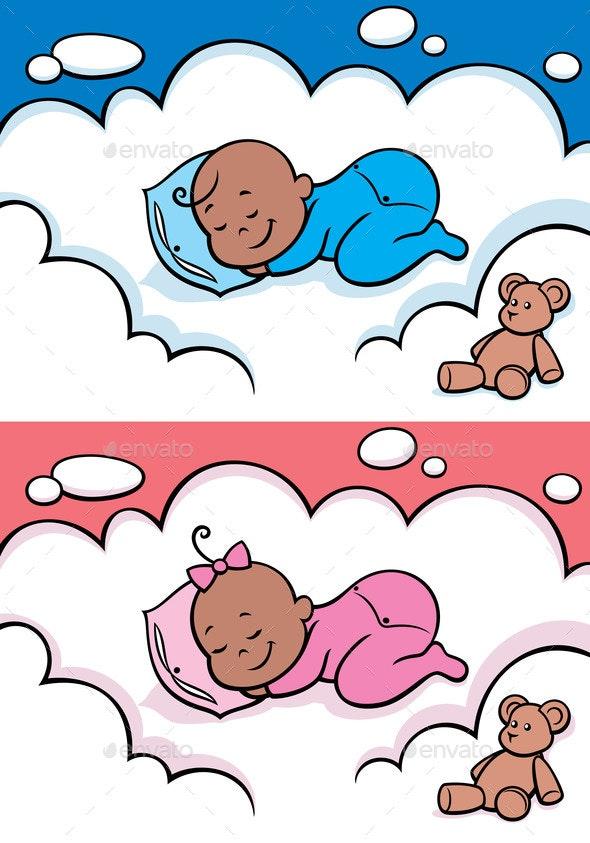 Sleeping Baby - People Characters