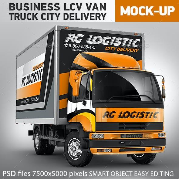 Truck Mock-Up LCV Business Van City Delivery