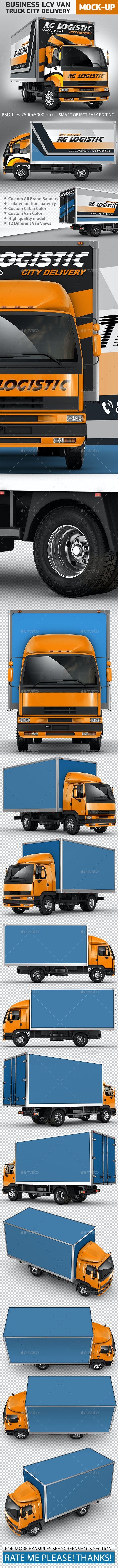 Truck Mock-Up LCV Business Van City Delivery - Vehicle Wraps Print