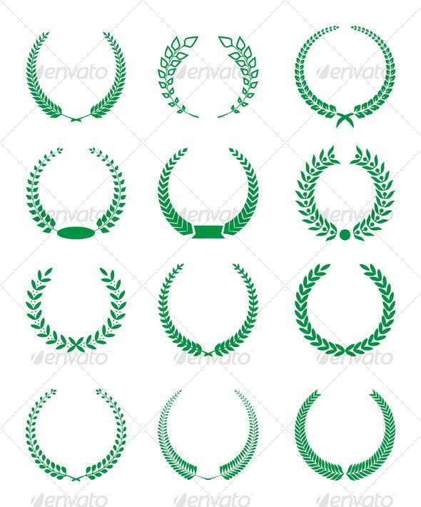 Laurels Design - Decorative Symbols Decorative