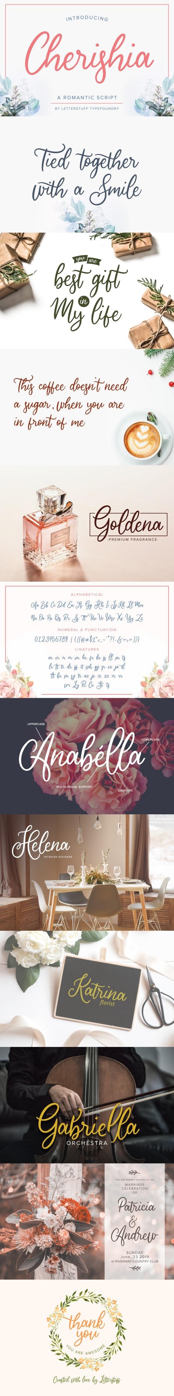 Cherishia Romantic Script - Calligraphy Script