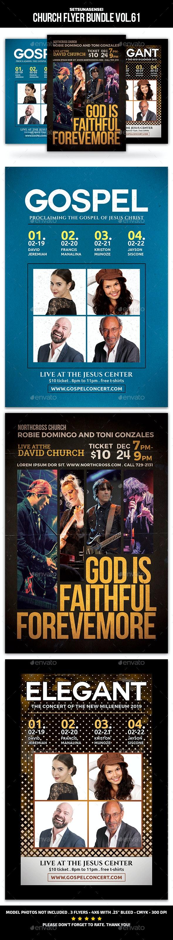 Church Flyer Bundle Vol. 61 - Church Flyers