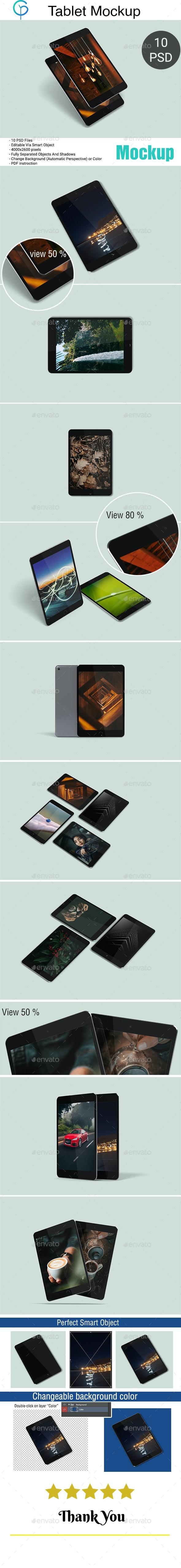 Tablet Mockup 3D - Displays Product Mock-Ups