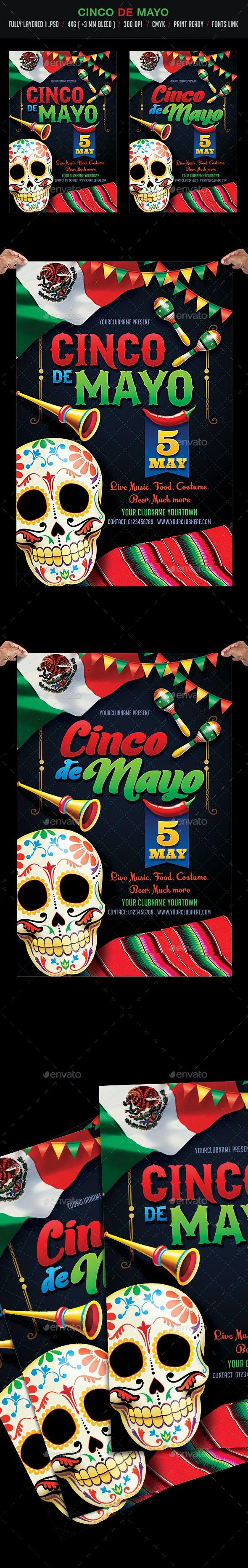 Cinco de Mayo Party Flyer - Events Flyers