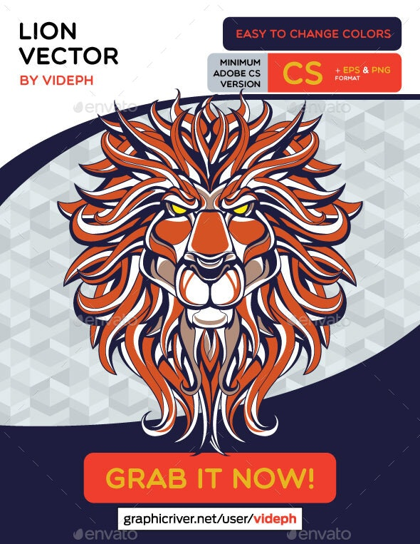 Lion Vector - Animals Characters