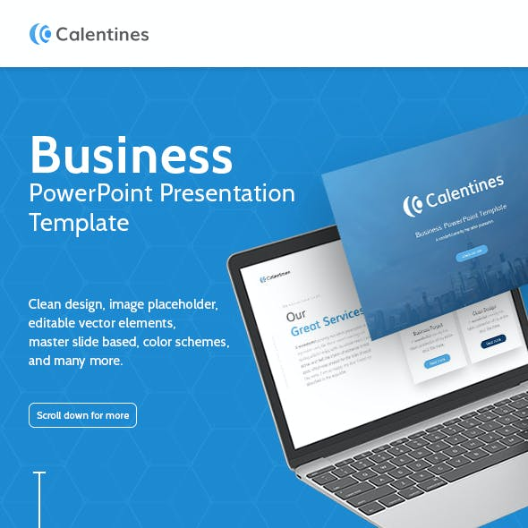 Calentines Business PowerPoint Template