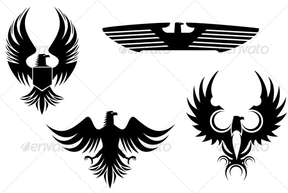 Eagle symbols - Tattoos Vectors