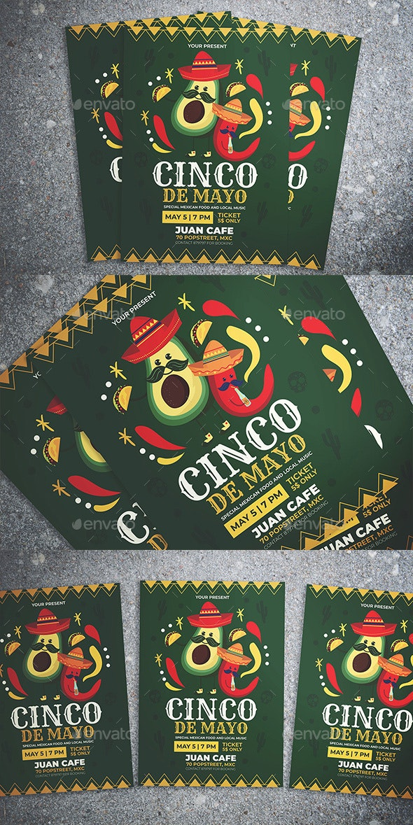 Cinco De Mayo Flyer - Flyers Print Templates