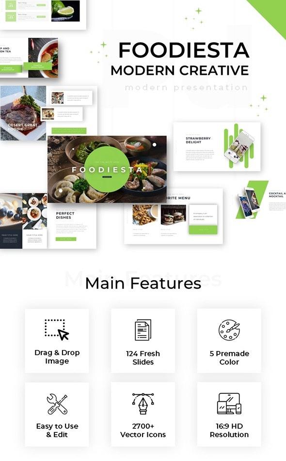 Foodiesta Modern Creative Powerpoint - Creative PowerPoint Templates