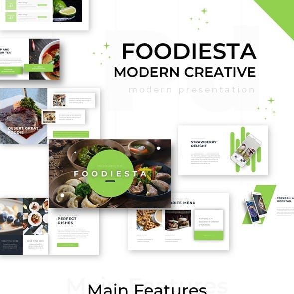 Foodiesta Modern Creative Powerpoint