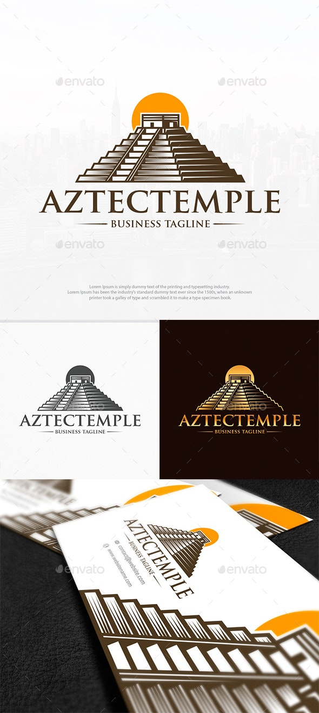 Aztec Temple Logo Template - Buildings Logo Templates