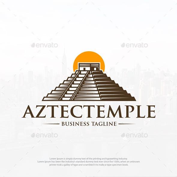 Aztec Temple Logo Template