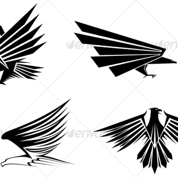 Eagle symbols for design