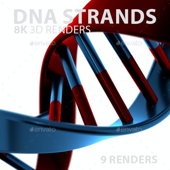 DNA Strands in 3 Colors