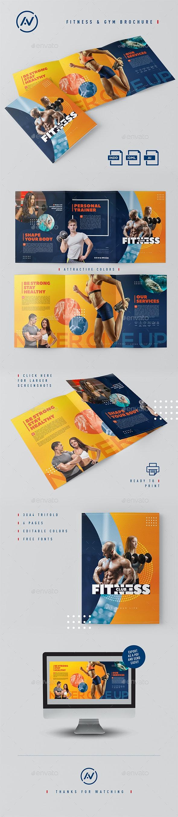 Fitness & Gym Brochure - Print Templates