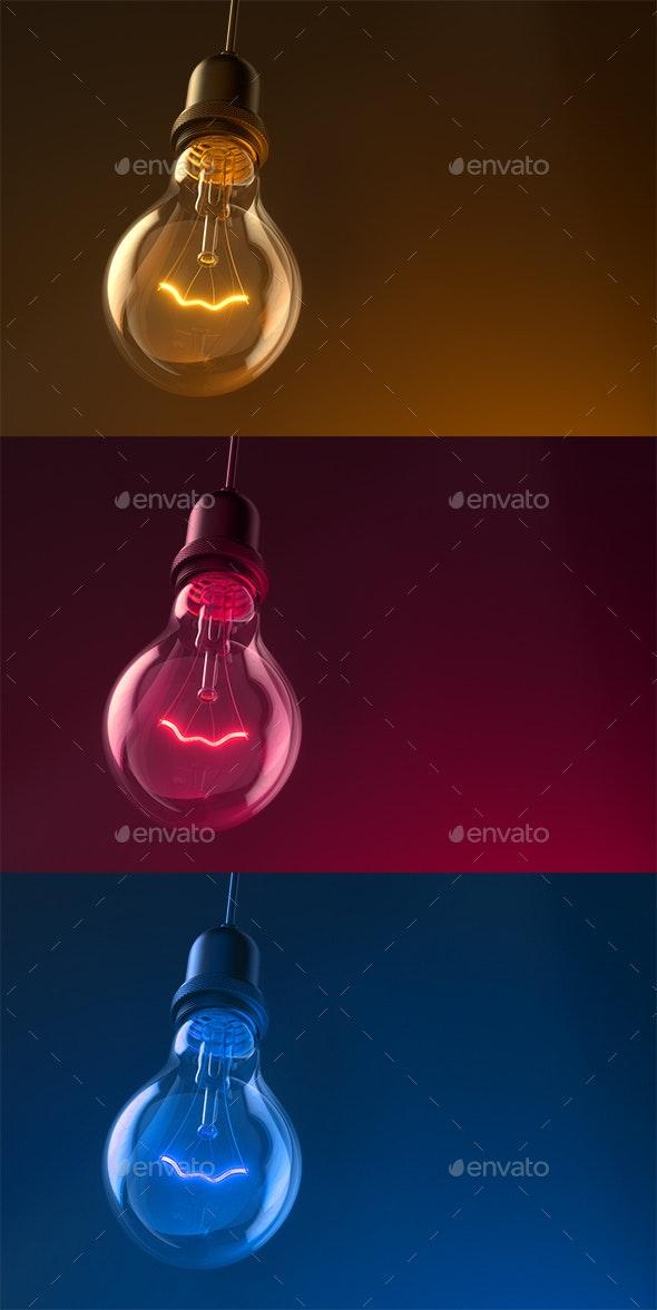 Lamp Bulb - 3D Backgrounds