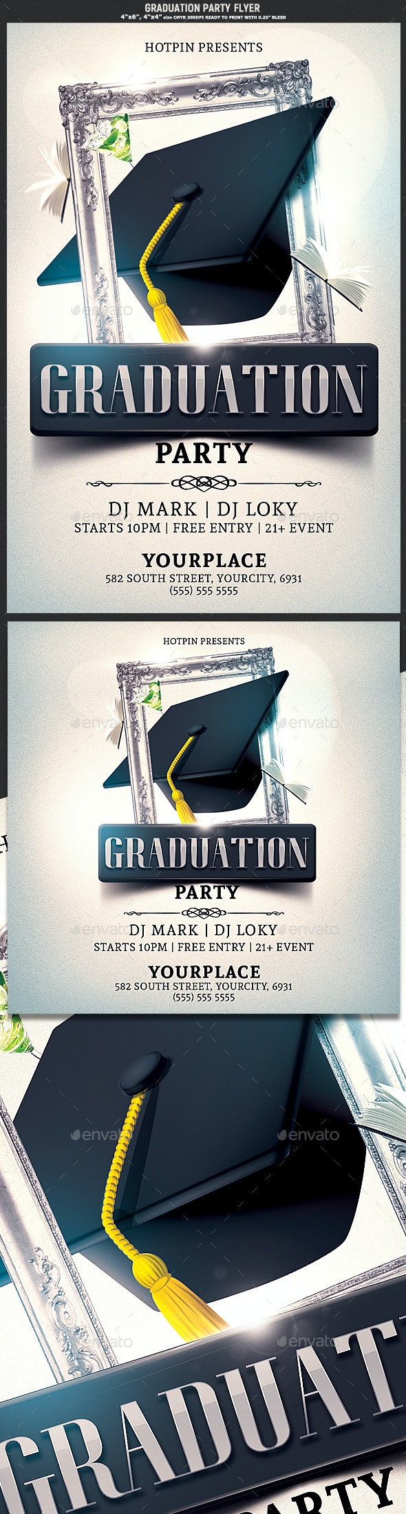 Graduation Party Flyer - Clubs & Parties Events