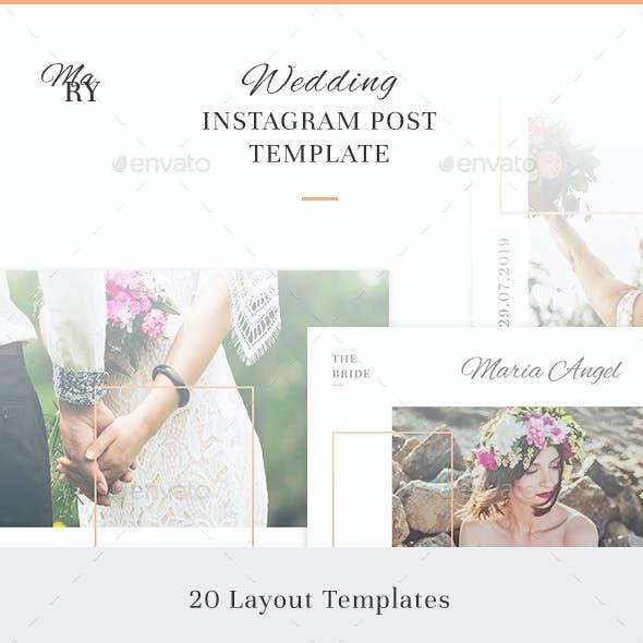 Mary - Wedding Instagram Post Template