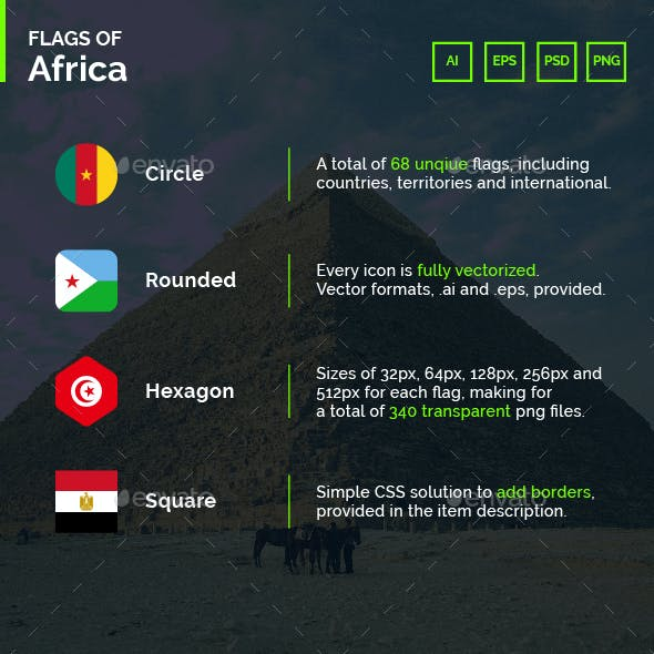 Flags of Africa - Flag Icons