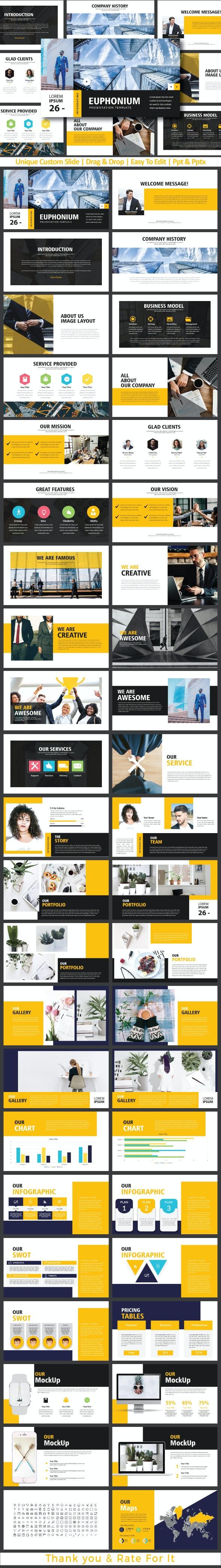 Euphonium Presentation Templates - Creative PowerPoint Templates