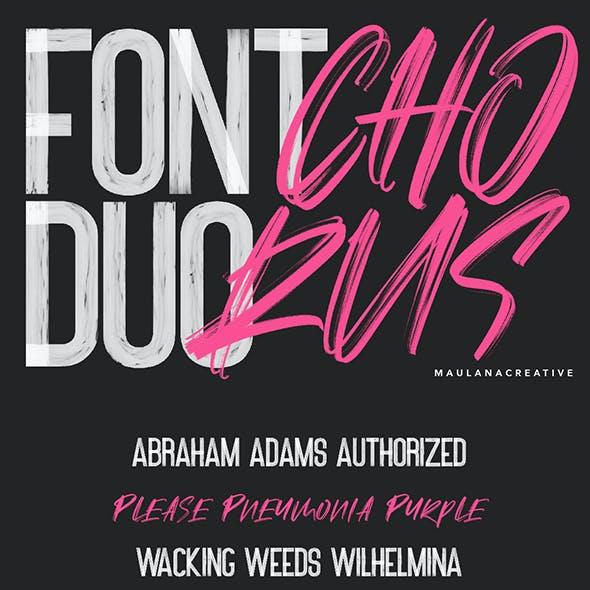 Chorus SVG Brush Font - Free Sans