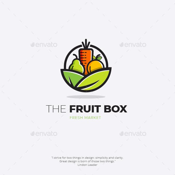 The Fruit Box  Logo Template