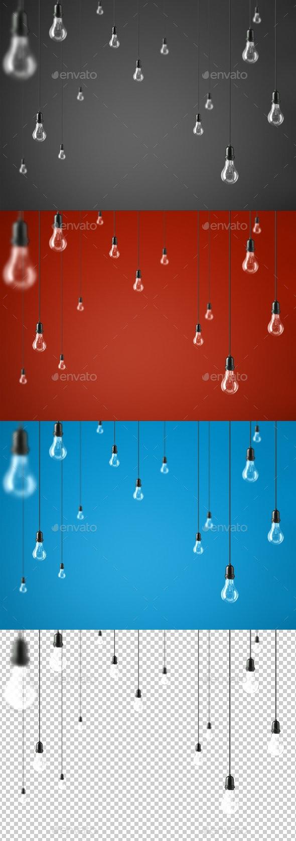 Lamp Light Bulbs - Objects 3D Renders