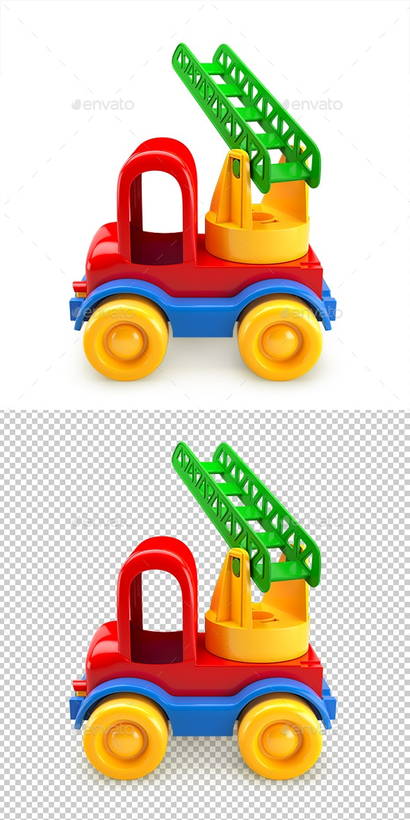 Car Toy with Stairs - Objects 3D Renders