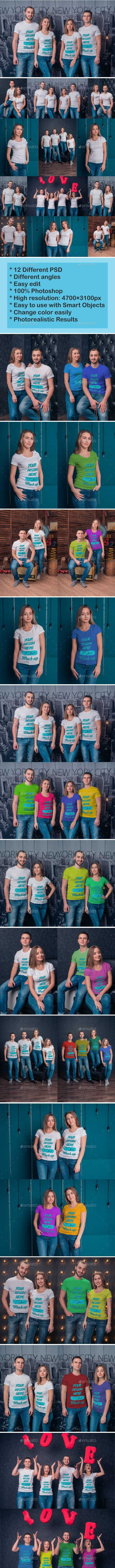 T-Shirt Mockup V.2 - T-shirts Apparel