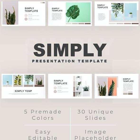 Simply - Minimalist Plant Google Slides Template