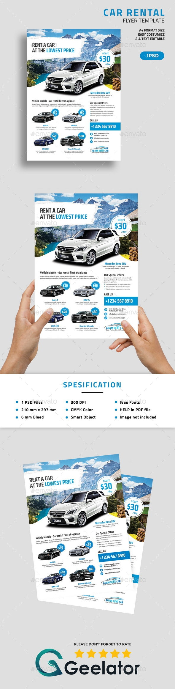 Car Rental Flyer Template - Corporate Flyers