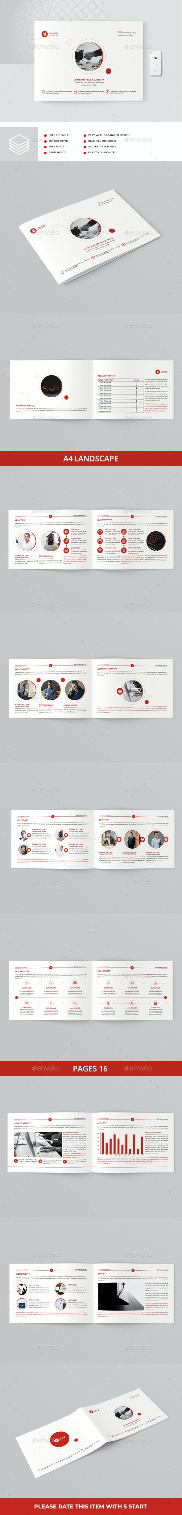 Company Profile Landscape A4 - Corporate Brochures