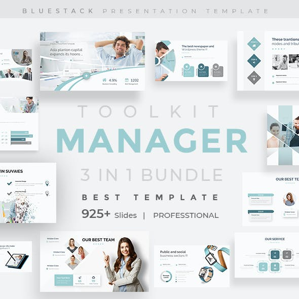Manager Toolkit 3 in 1 Pitch Deck Bundle Keynote Template