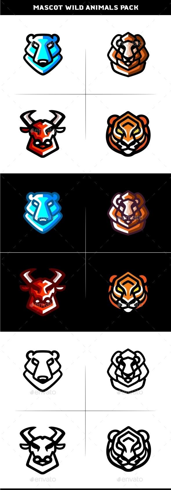 Mascot Wild Animals Pack - Animals Characters