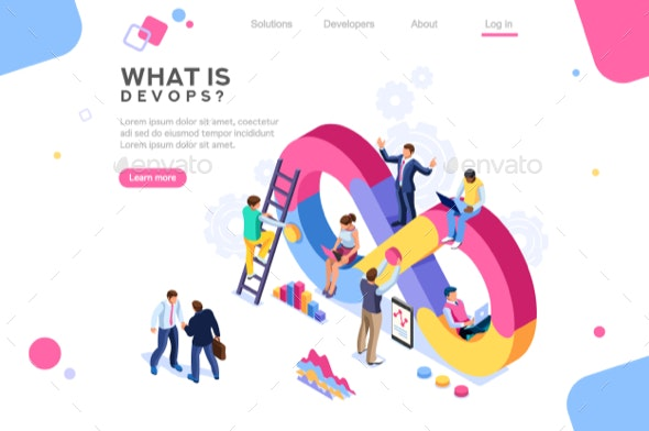Concept DevOps Banner Isometric - Concepts Business