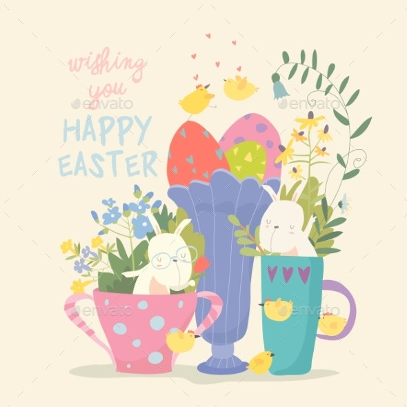 Bunny in a Cup - Miscellaneous Seasons/Holidays
