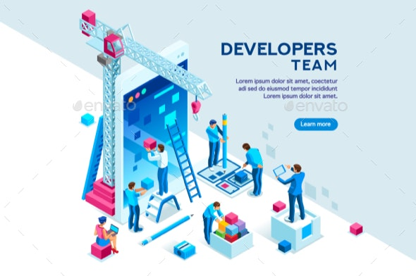 Device Content Place Isometric - Concepts Business