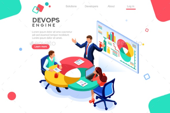 DevOps Infographic Isometric - Concepts Business