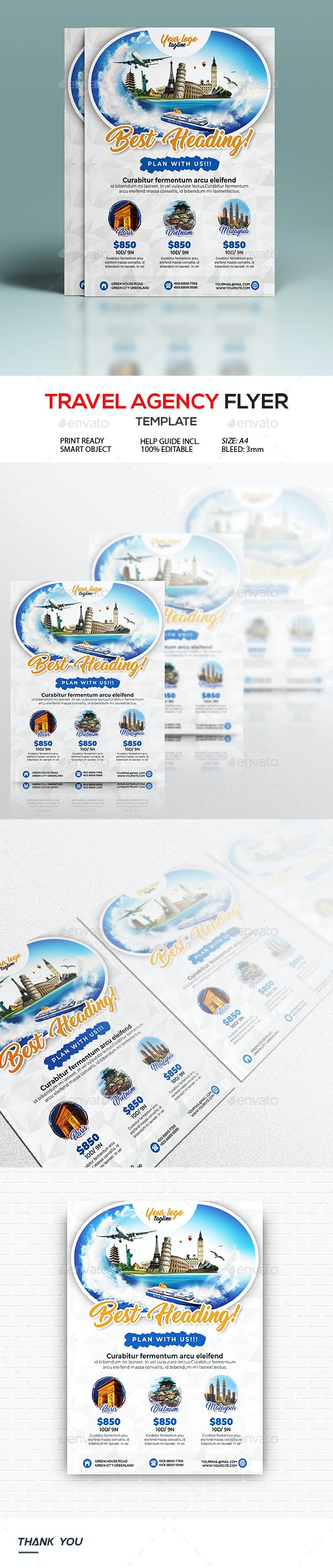 Travel Agency Flyer - Holidays Events