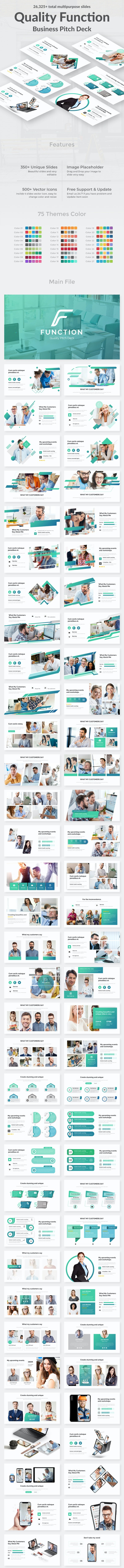 Quality Function Pitch Deck Powerpoint Template - Business PowerPoint Templates