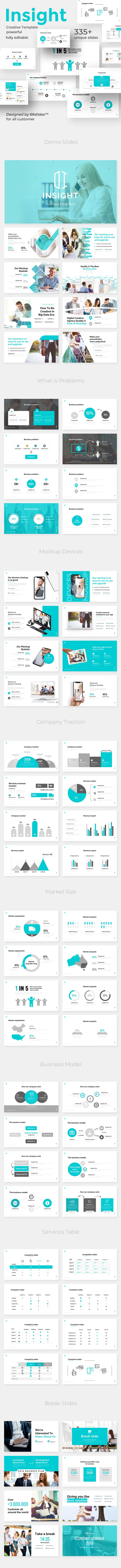 Overview Insight Pitch Deck Powerpoint Template - Business PowerPoint Templates