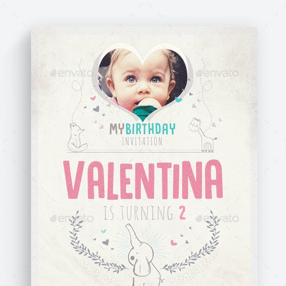 Birthday Invitation Vol.3 Flyer Template