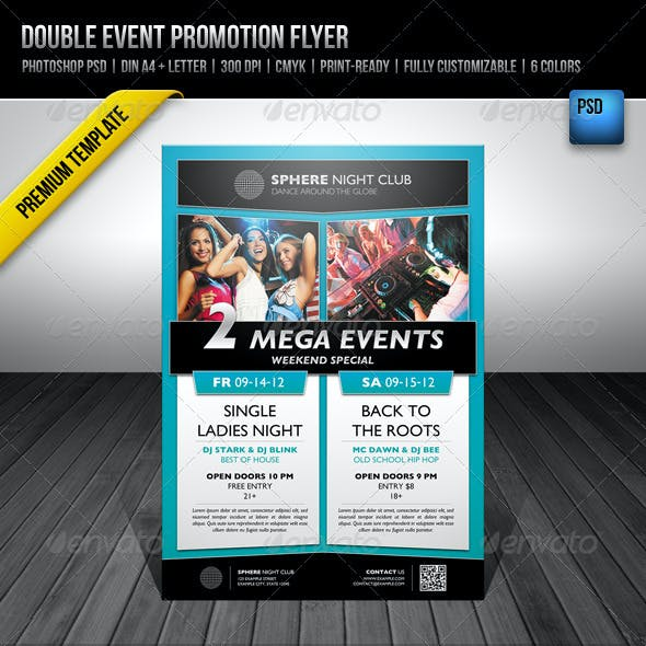 Double Event Promotion Flyer