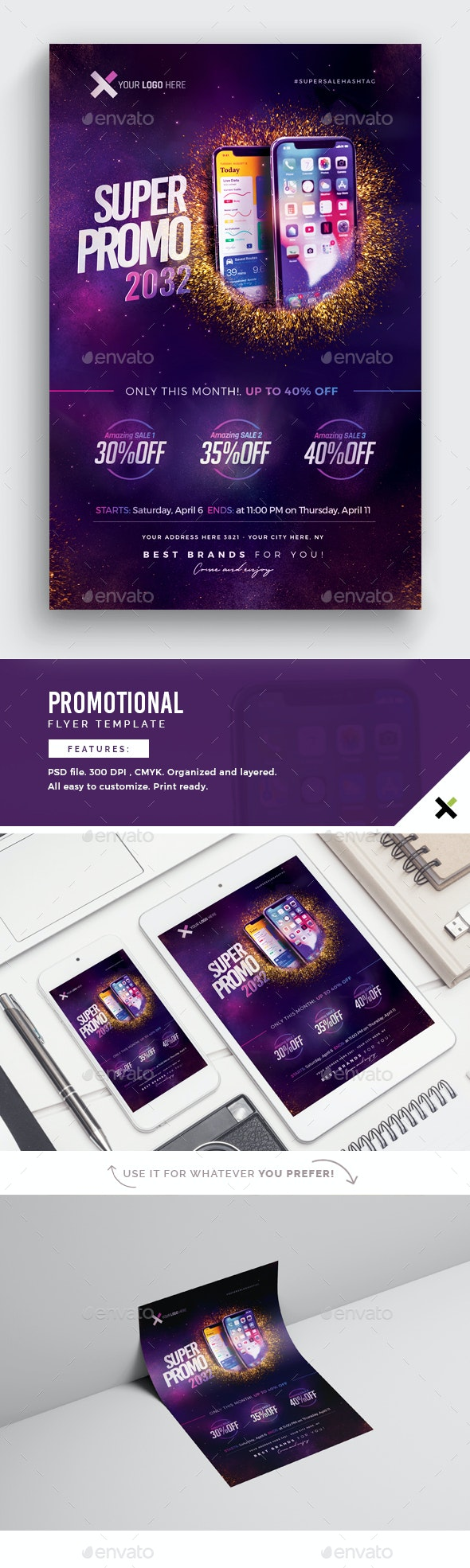 Promotional Flyer Template - Commerce Flyers