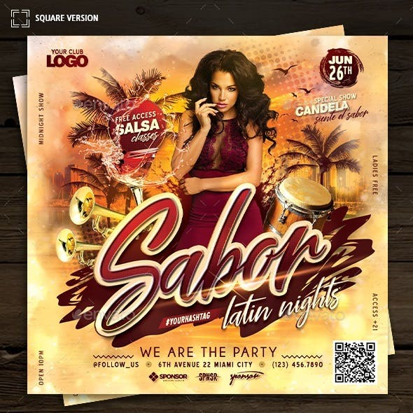 Sabor Latin Nights Flyer